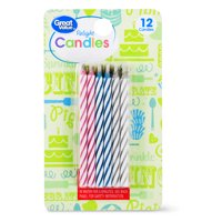 (4 Pack) Great Value Relight Spiral Candles, Assorted Colors, 12 Count