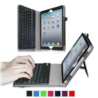 Apple iPad 4, iPad 3 & iPad 2 Keyboard Case - Fintie Folio Case With Removable Bluetooth Keyboard, Black