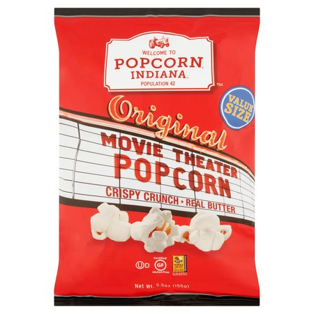 Popcorn, Indiana Original Movie Theater Popcorn Value Size, 5.5 Oz.