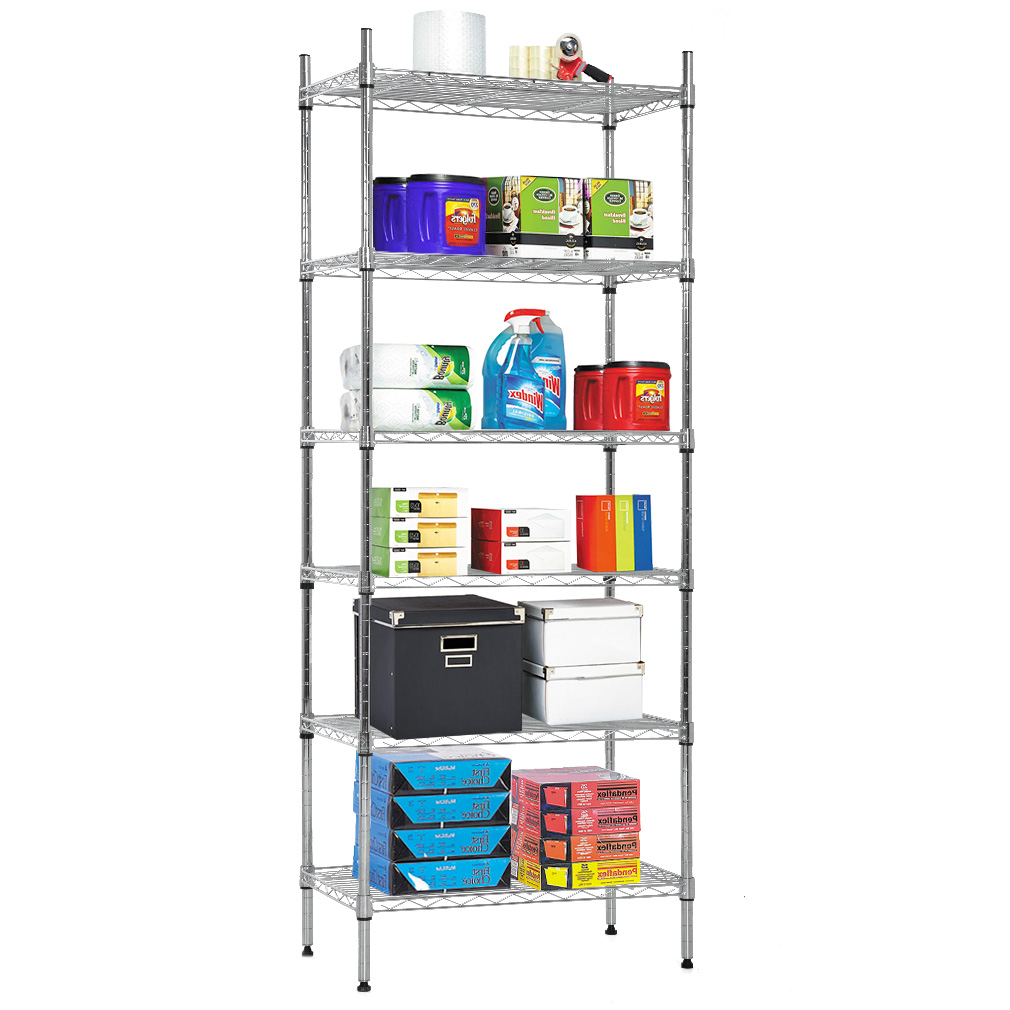 Adjustable 5 Tier Wire Wide Shelving Unit Chrome Room Essentials | Wire Shelving Units
