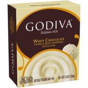 Godiva White Chocolate Vanilla Bean Pudding Mix, 3.9 oz Box