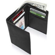 2e128b1b8fab6 Trifold Wallets For Men RFID - Leather Slim Mens Wallet With ID Window  Front Pocket Wallet