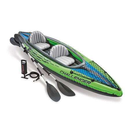 Intex Challenger K2 Inflatable Kayak with Oars and Hand Pump Only $54.67