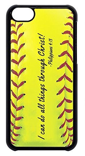 Ganma Softball Christian Bible verse I Can Do Rubber Silicon Black Case Cover Case For iPhone 6 / 6s (4.7 INCH),](where can i get an iphone 6 unlocked)