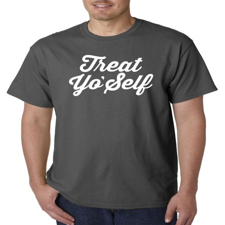 New Way 877 - Unisex T-Shirt Treat Yo' Self Yourself Day Parks Recreation Large