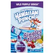 Hawaiian Punch Sugar-Free Wild Purple Smash Drink Mix, 0.75 Oz., 8 Count