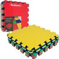 Stalwart Multi-Color EVA Foam Exercise Mat, 8-Piece