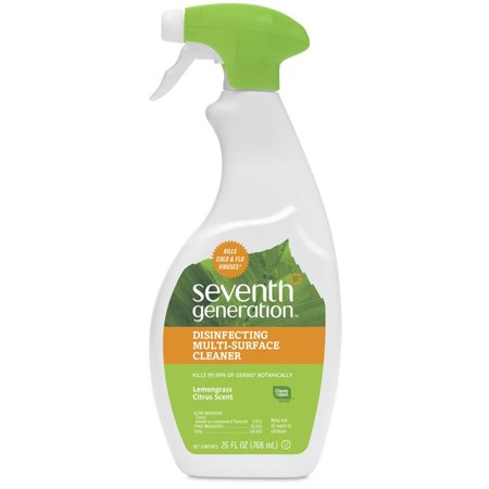 Comet Disinfecting Cleaner - Seventh Generation Lemongrass Citrus Disinfecting Multi-Surface Cleaner, 26 oz