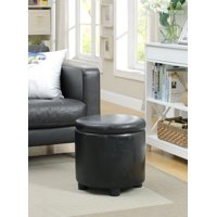 Convenience Concepts Designs4Comfort Round Accent Storage Ottoman