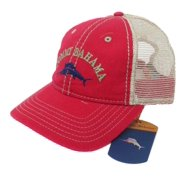 c2ce89dfa31 Tommy Bahama Washed Marlin Camper Red Adjustable Golf Hat Ball Cap