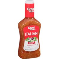 (4 Pack) Great Value Zesty Italian Dressing & Marinade, 16 Oz