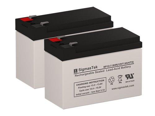 Razor Pocket Mod Bistro Replacement Scooter Battery (Set of 2 - 12V 7AH SLA