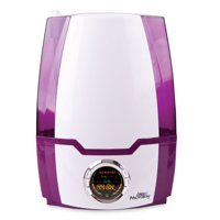 Air Innovations 1.37 Gal. Ultrasonic Cool Mist Digital Smart Humidifier For Large Rooms – Up To 400 sq. ft. Purple