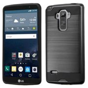 Insten Hard Dual Layer Rubber Silicone Case For LG G Stylo - Black