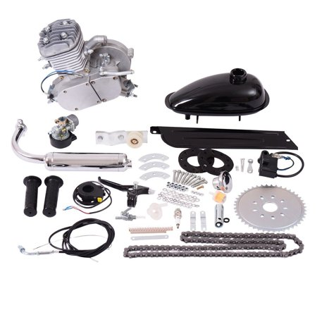 Electronic Motor Action Kit - Costway 80cc 2-Stroke Bicycle Gasoline Engine Motor Kit DIY Motorized Bike Silver