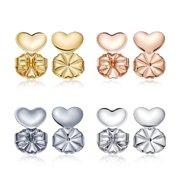 b52f25c3e Earring Lifters Locking Earring Backs As Seen On TV 4 Pairs Adjustable  Heart Shaped Hypoallergenic Earrings