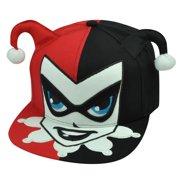 7a393ac5daa Harley Quinn Batman Villain Cartoon DC Comics Hat Cap Snapback Flat Bill Red  Blk