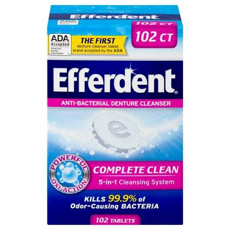 Efferdent Anti-Bacterial Denture Cleanser, 102 (Efferdent Tablet Cleanser)