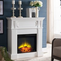 "Prokonian Electric Fireplace Heater with 40"" Mantel, White"