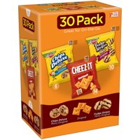 Kellogg's Chips Deluxe, Cheez-It, & Fudge Stripes Variety Snack Pack, 31.2 Oz., 30 Count