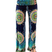 e3c8e1607dde Summer Women Floral Loose Boho Harem Wide Leg Pants Palazzo Yoga Leisure  Trouser