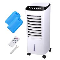 Koval Inc. 65W Portable Remote Control Evaporative Air Cooler Fan Humidifier with 6L Tank