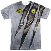657473f3158a7 1993 Sci-Fi Thriller Movie Live Raptor Adult 2-Sided Print T-Shirt