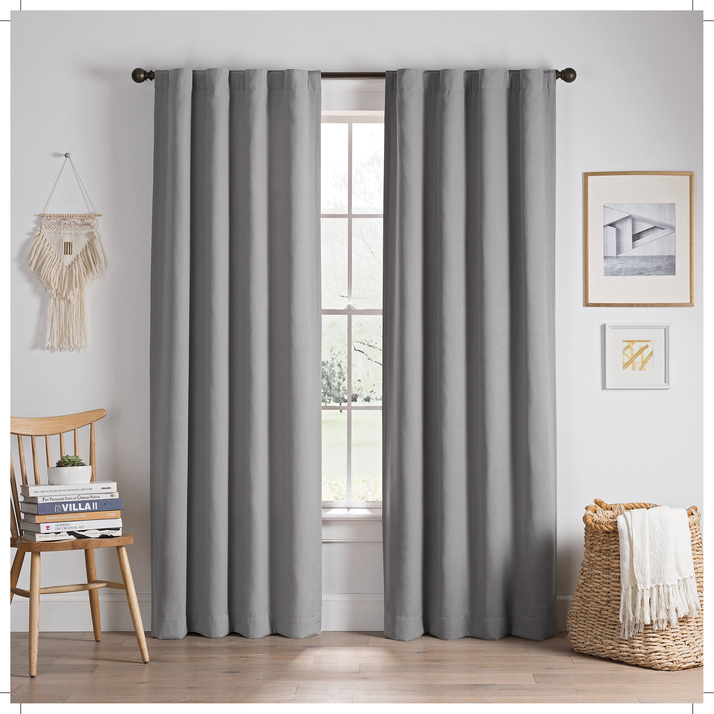 Eclipse Edisto Solid Thermalayer Blackout Window Curtain Panel