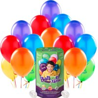 Helium Tank with Multicolor Balloons