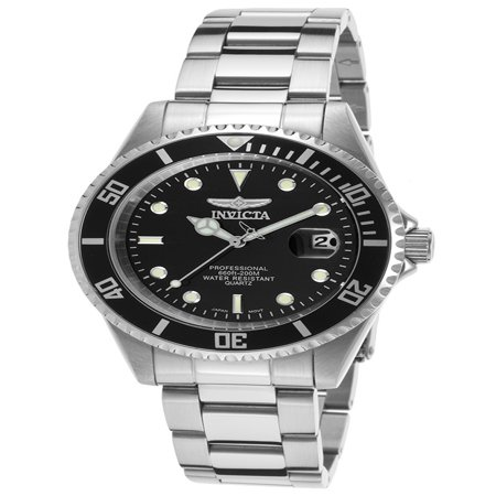 Invicta Men's Pro Diver Analog Display Quartz Silver Watch 8932OB (Invicta Black Wrist Watch)