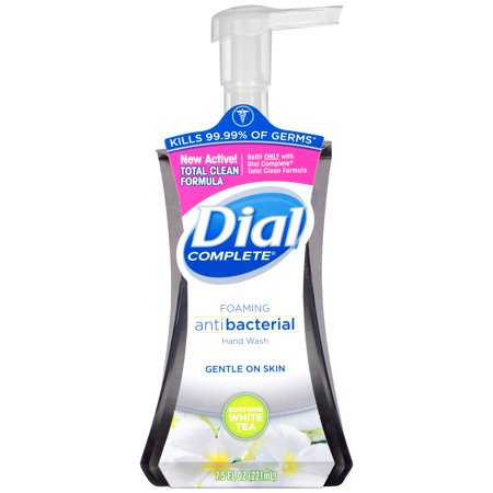 (4 pack) Dial Complete Antibacterial Foaming Hand Wash, Soothing White Tea, 7.5 Oz 10 Oz Moisturizing Hand Wash