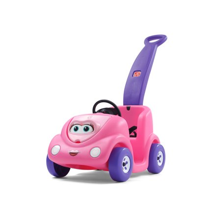 Step2 Push Around Buggy 10th Anniversary Edition Kids Ride On Toy Push Car, Pink (Pink Pouch)