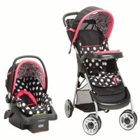 Disney Baby Minnie Mouse Lift & Stroll™ Plus Travel System, Minnie Coral Flowers