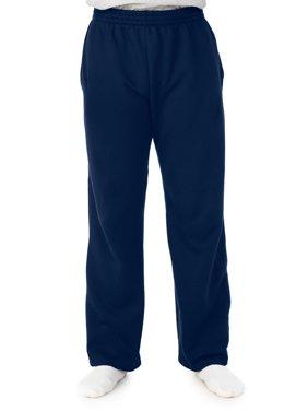 Big Men's Soft Light-Weight Fleece Open Bottom Sweatpant, with pockets