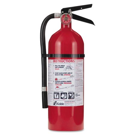 Multi Purpose Fire Extinguisher - Kidde Pro 210 Fire Extinguisher, 4lb, 2-A, 10-B:C