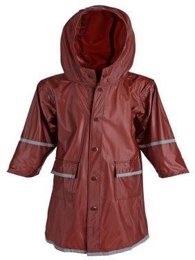 Girls Kids Waterproof Full Length Long Hooded Raincoat Jacket Coat for Children