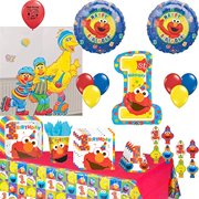 Sesame Street Party Supplies Elmo Big Bird Cookie Monster Birthday Tableware And Balloon Decoration