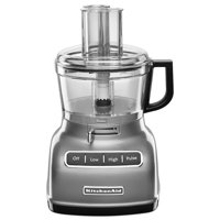 KitchenAid RRKFP0722CU 7-Cup Food Processor with Exact Slice System - Contour Silver (CERTIFIED REFURBISHED)