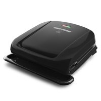 George Foreman 4-Serving Removable Plate Electric Grill and Panini Press, Black, GRP1060B