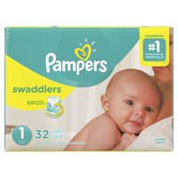 Pampers Swaddlers Newborn Diapers Size 1 32 Count
