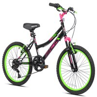 """BCA 20"""" Girls', SC20 Bicycle, Black/Green, For Ages 8-12"""