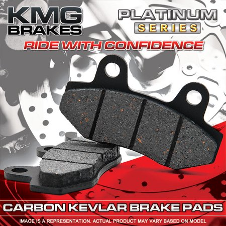 KMG 2007-2011 Kawasaki KLE 650 Versys Rear Non-Metallic Organic NAO Disc Brake Pads Set - image 1 of 4