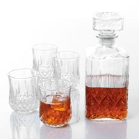 Gibson Home® Jewelite Glass Decanter Set 5 pc Set