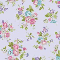 "Waverly Inspirations 100% Cotton 44"" Wide Floral Carnation Print Fabric, per Yard"