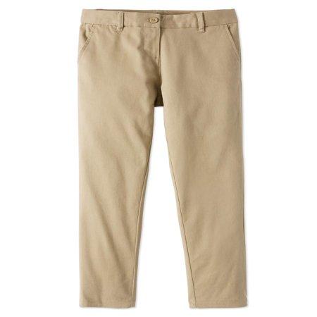 Girls School Uniform Stretch Twill Skinny Pants (School Gitl)