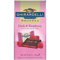 Ghirardelli Dark & Raspberry Chocolate Squares, 5.32 Oz