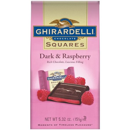 Ghirardelli Squares Dark & Raspberry Chocolates, 5.32