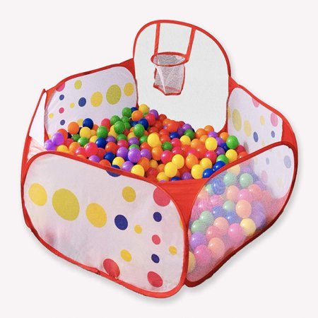 Foxplay Foldable Basketball Ball Pit for Toddlers - Pit Ball