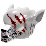 LEGO Headgear Light Gray Wolf Mask with Fangs and Claw Marks #4519686 [Loose]