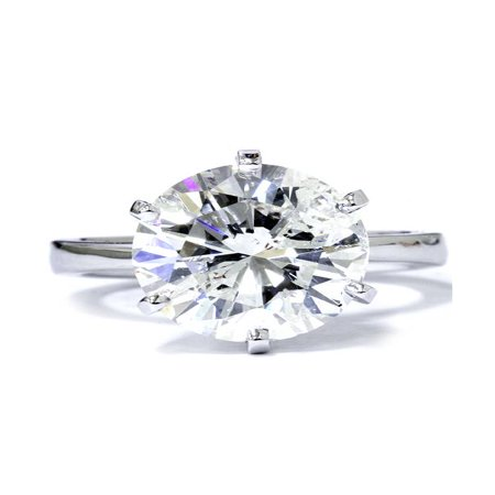 3 Carat Round Cut  Diamond Engagement Wedding Solitaire 14K White Gold ()